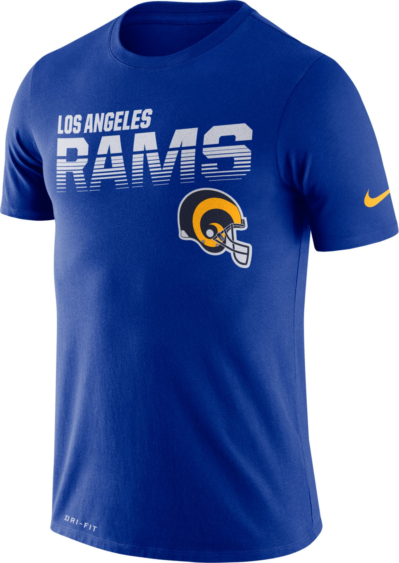 Nike Men's Los Angeles Rams Sideline Legend Performance Royal T-Shirt