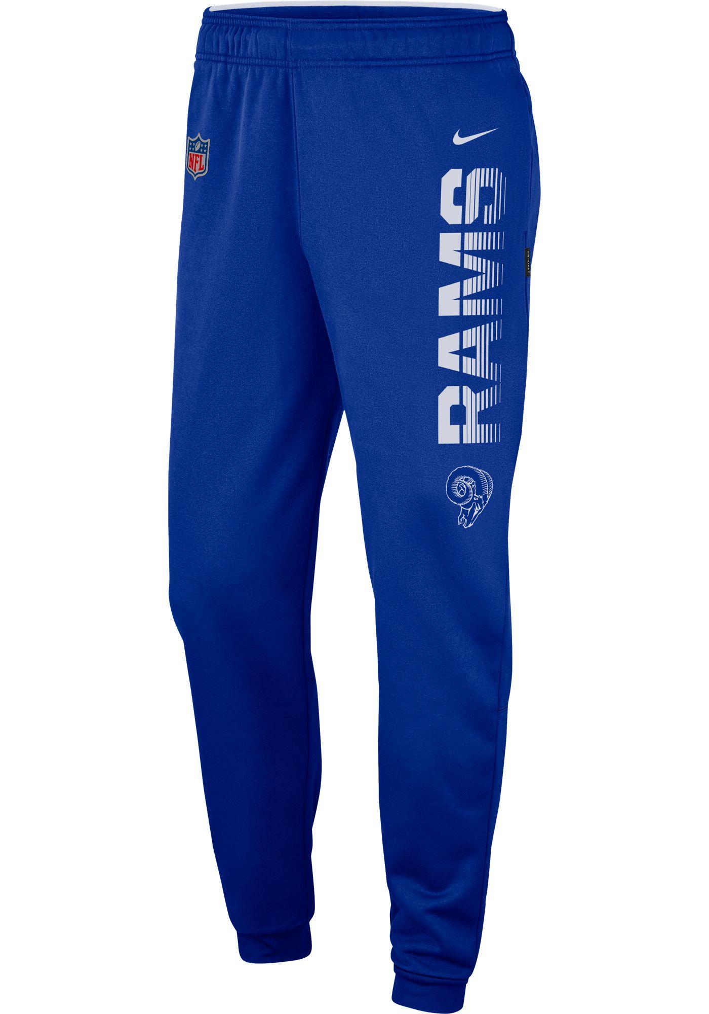 Nike Men's Los Angeles Rams Sideline Therma-FIT Performance Royal Pants