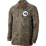 Nike Men's Salute to Service Los Angeles Rams Olive Lightweight Camo Jacket