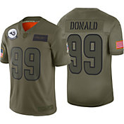 Nike Men's Salute to Service Los Angeles Rams Aaron Donald #99 Olive Limited Jersey