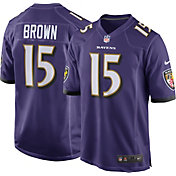 Nike Men's Baltimore Ravens Marquise Brown #15 Purple Game Jersey