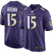 Marquise Brown Nike Men's Baltimore Ravens Home Game Jersey