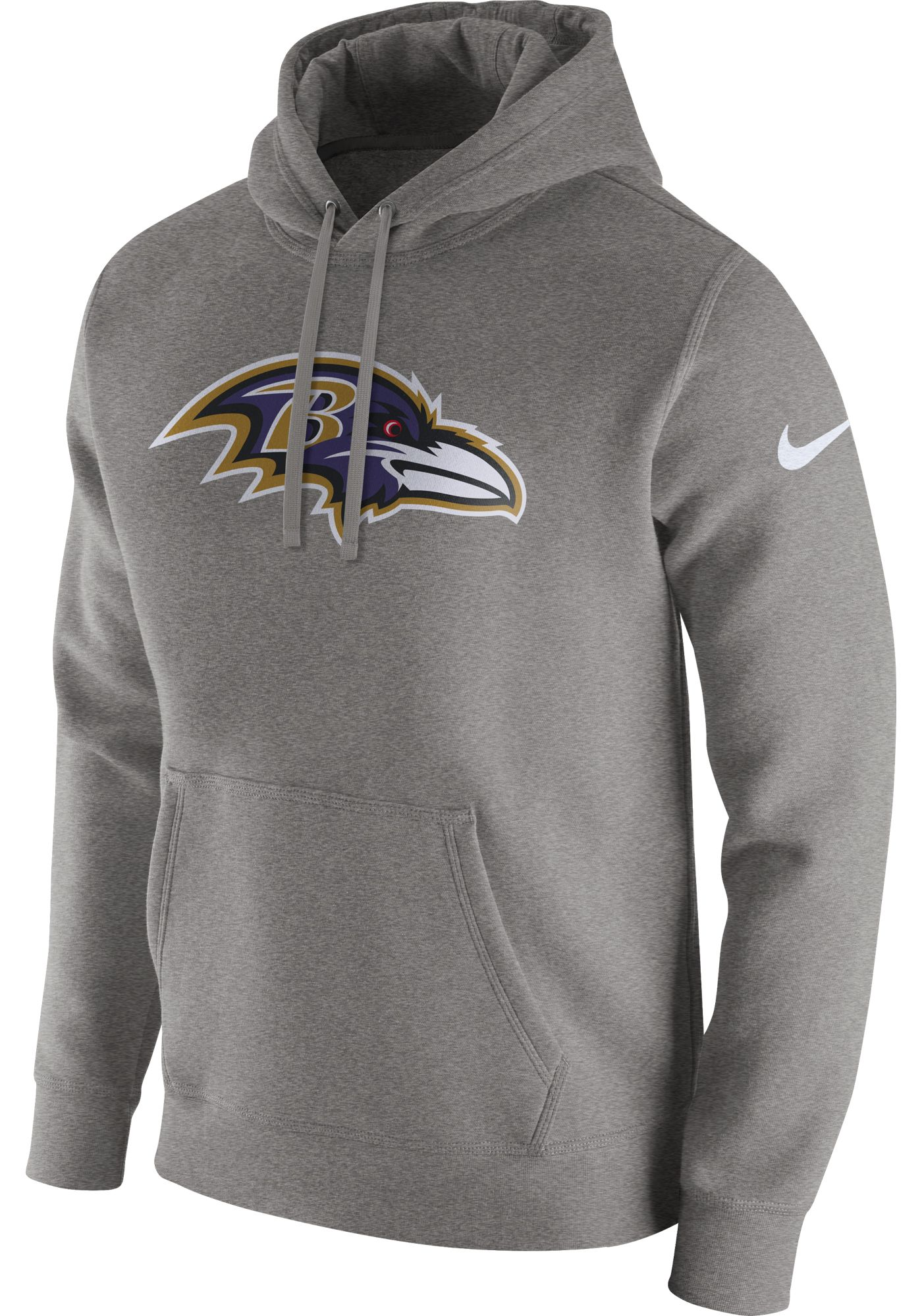 Nike Men's Baltimore Ravens Logo Club Grey Hoodie