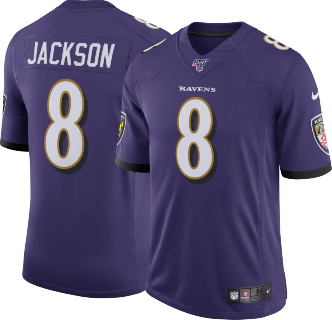 new concept 61724 d178e Nike Men's 100th Home Limited Jersey Baltimore Ravens Lamar Jackson #8