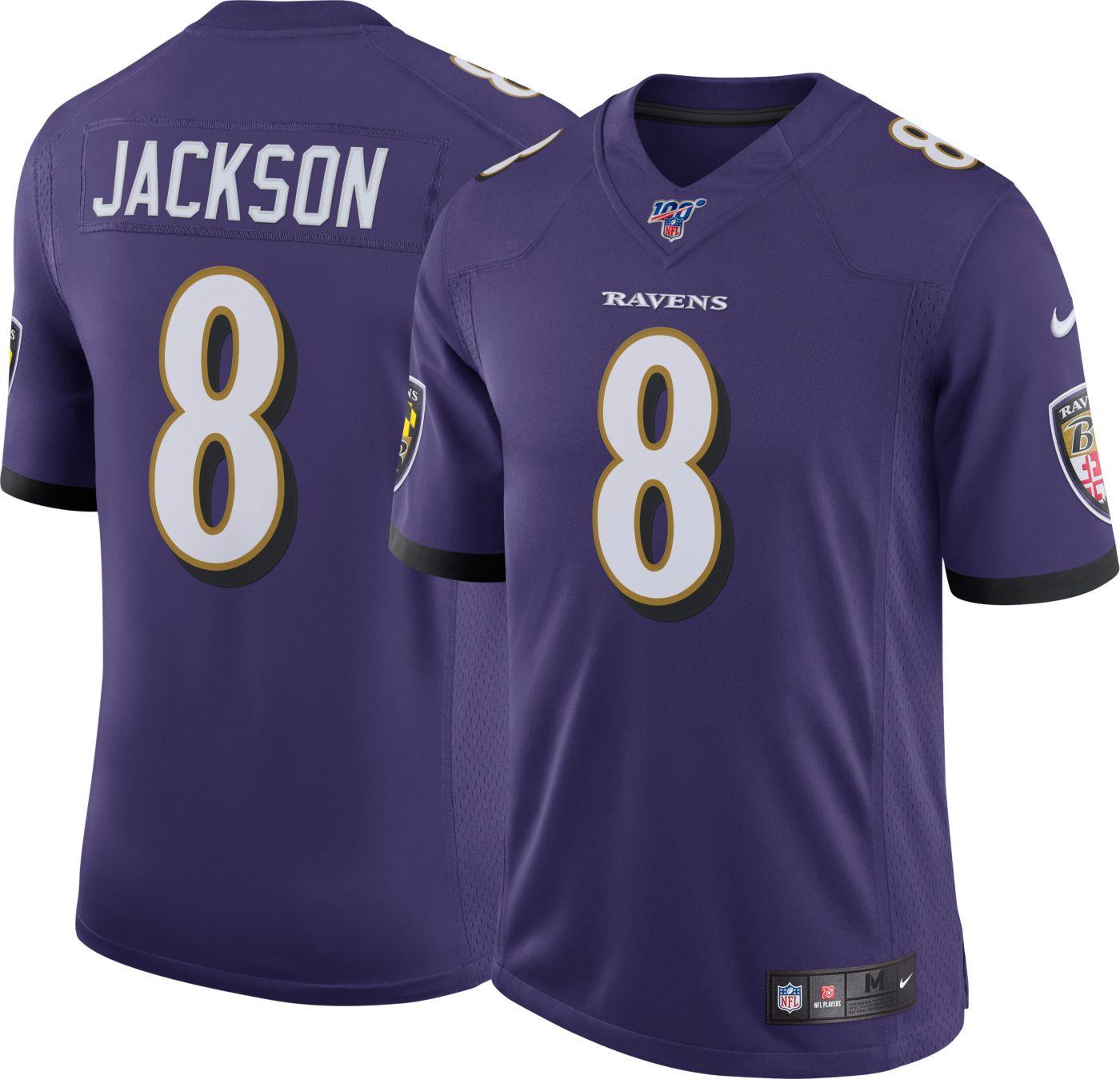 Nike Men's 100th Home Limited Jersey Baltimore Ravens Lamar Jackson #8