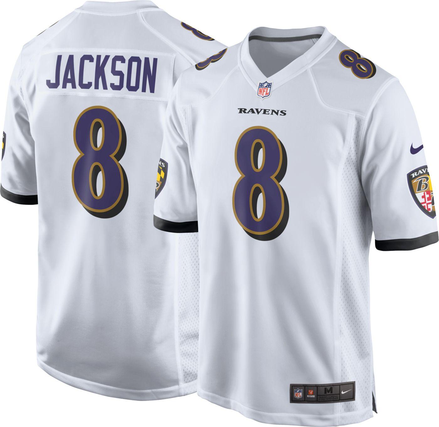 Nike Men's Away Game Jersey Baltimore Ravens Lamar Jackson #8