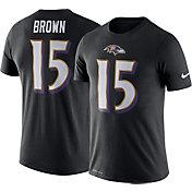Nike Men's Baltimore Ravens Marquise Brown #15 Logo Black T-Shirt