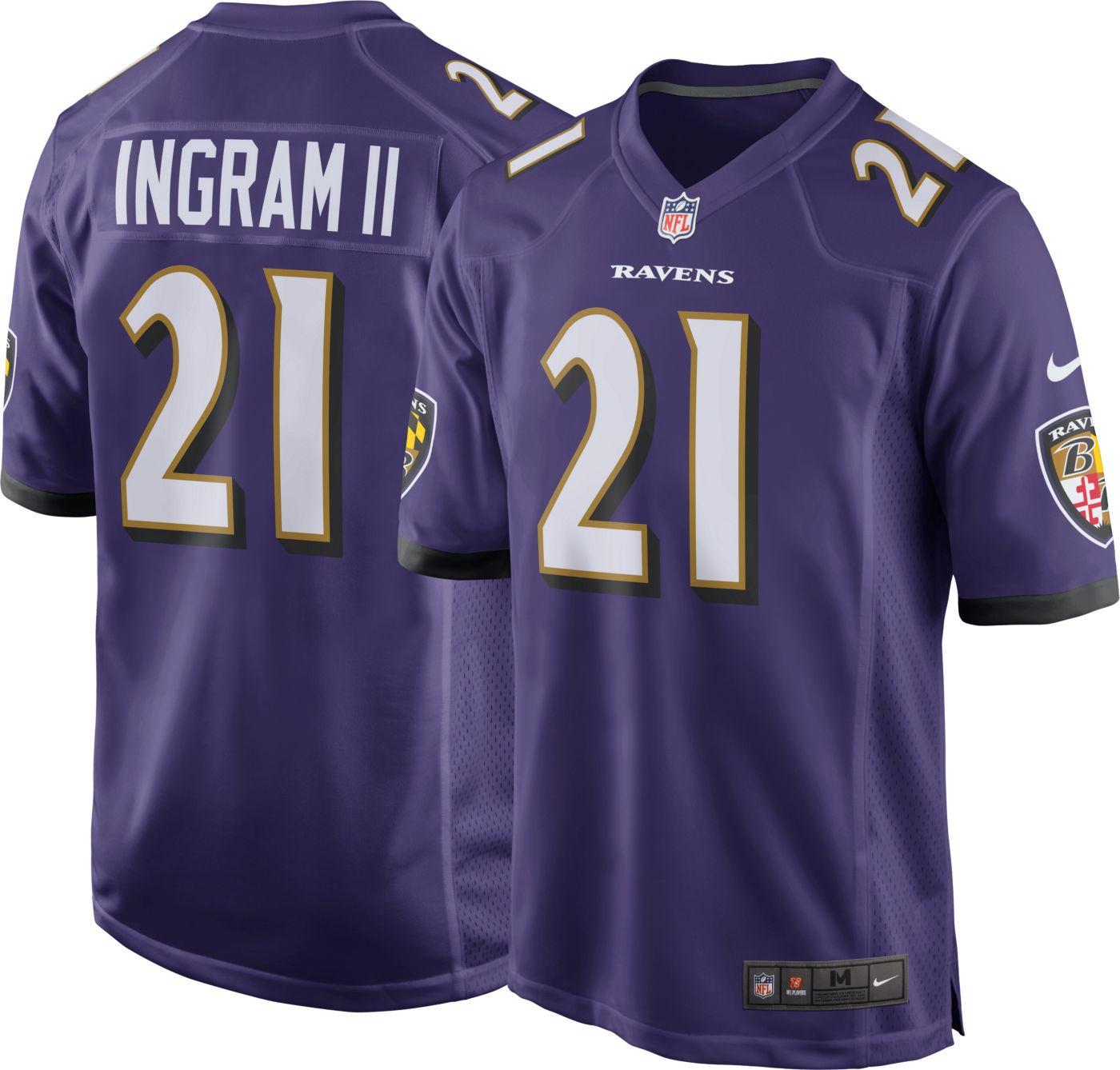 Nike Men's Baltimore Ravens Home Game Jersey Mark Ingram #21