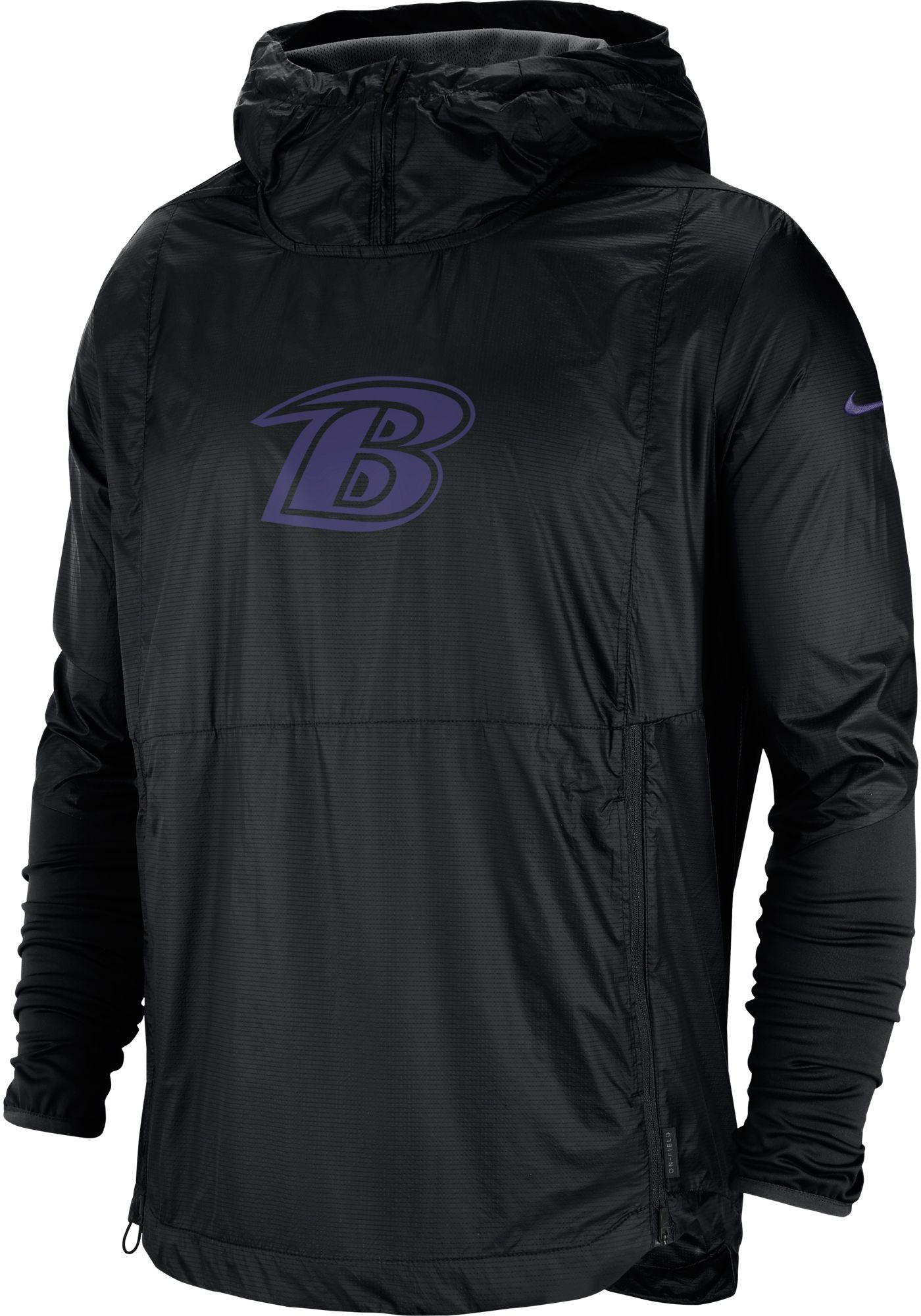 Nike Men's Baltimore Ravens Sideline Repel Player Black Jacket
