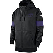 Nike Men's Baltimore Ravens Sideline Therma-FIT Black Full-Zip Hoodie