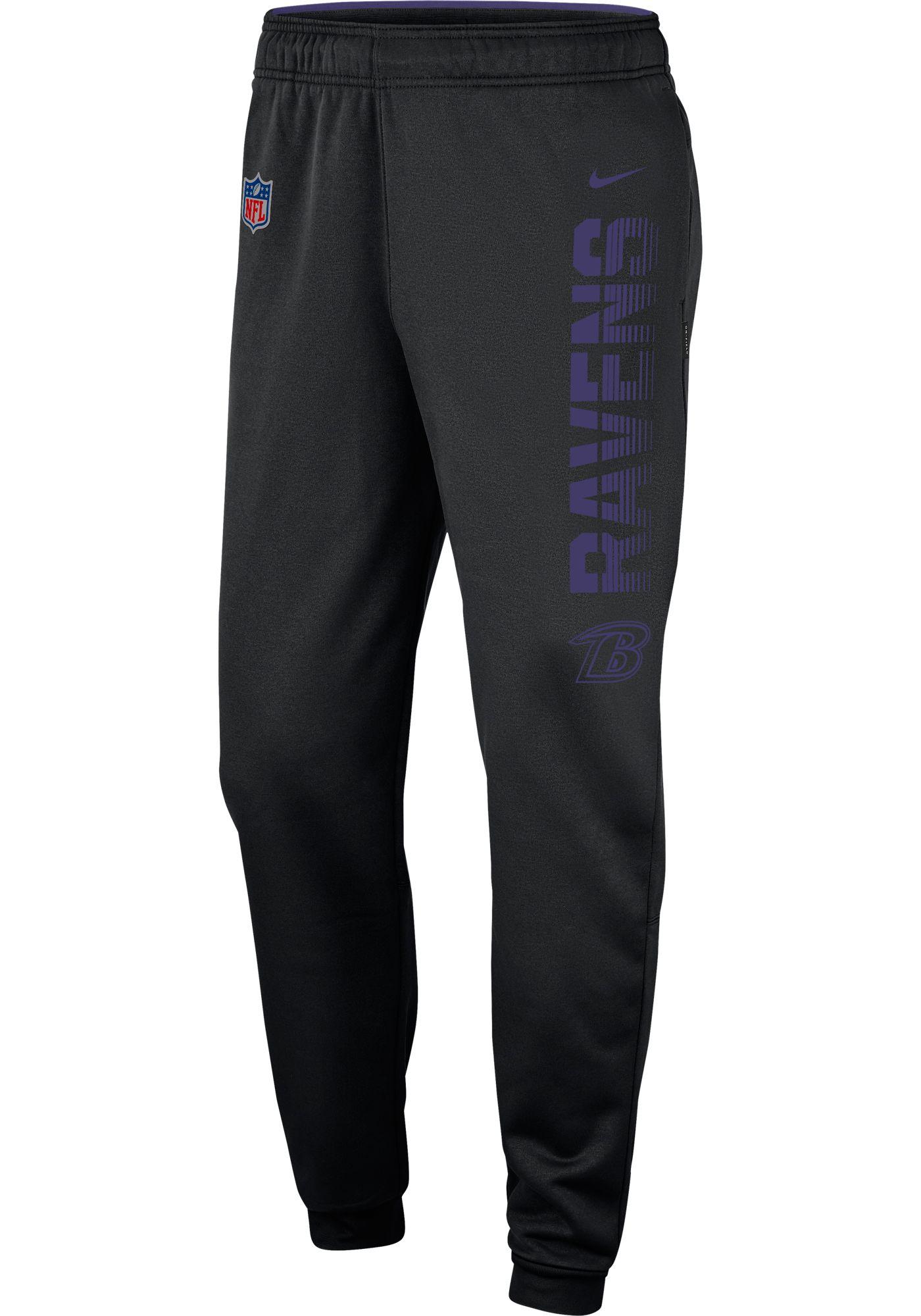 Nike Men's Baltimore Ravens Sideline Therma-FIT Performance Black Pants