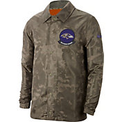 Nike Men's Salute to Service Baltimore Ravens Olive Lightweight Camo Jacket