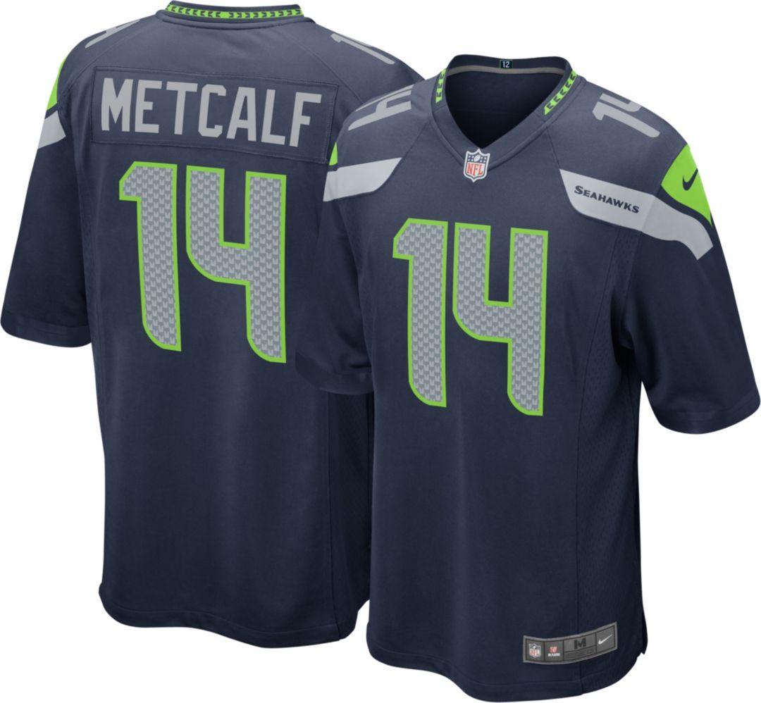 innovative design ac4fa bb64e Nike Men's Home Game Jersey Seattle Seahawks D.K. Metcalf #14
