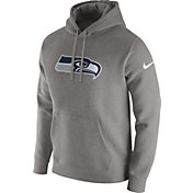 Nike Men's Seattle Seahawks Logo Club Grey Hoodie