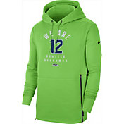 Nike Men's Seattle Seahawks Sideline Therma-FIT Local Green Performance Hoodie