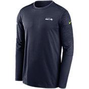 Nike Men's Seattle Seahawks Sideline Coach Long-Sleeve T-Shirt