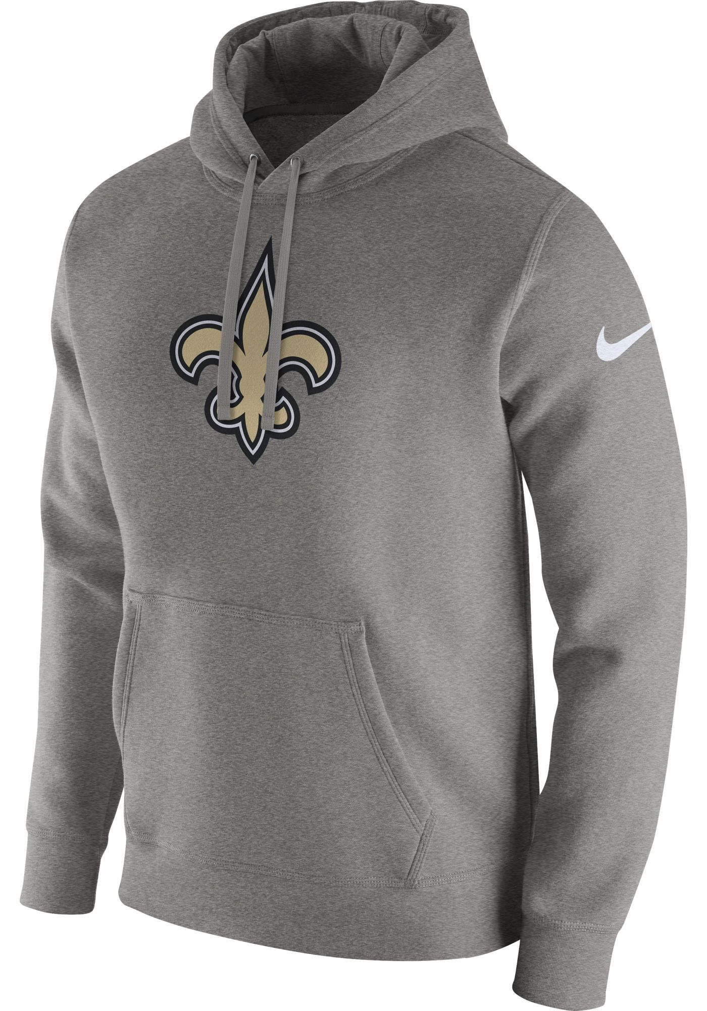 Nike Men's New Orleans Saints Logo Club Grey Hoodie