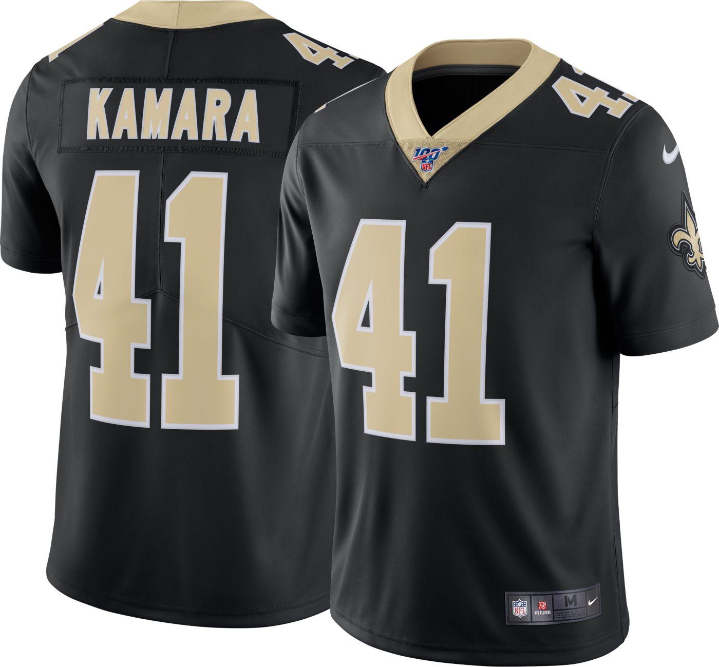 Nike Men's 100th Home Limited Jersey New Orleans Saints Alvin Kamara #41