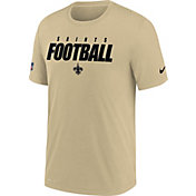 Nike Men's New Orleans Saints Sideline Dri-FIT Cotton Football All Gold T-Shirt
