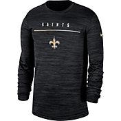 Nike Men's New Orleans Saints Sideline Legend Velocity Black Long Sleeve Shirt