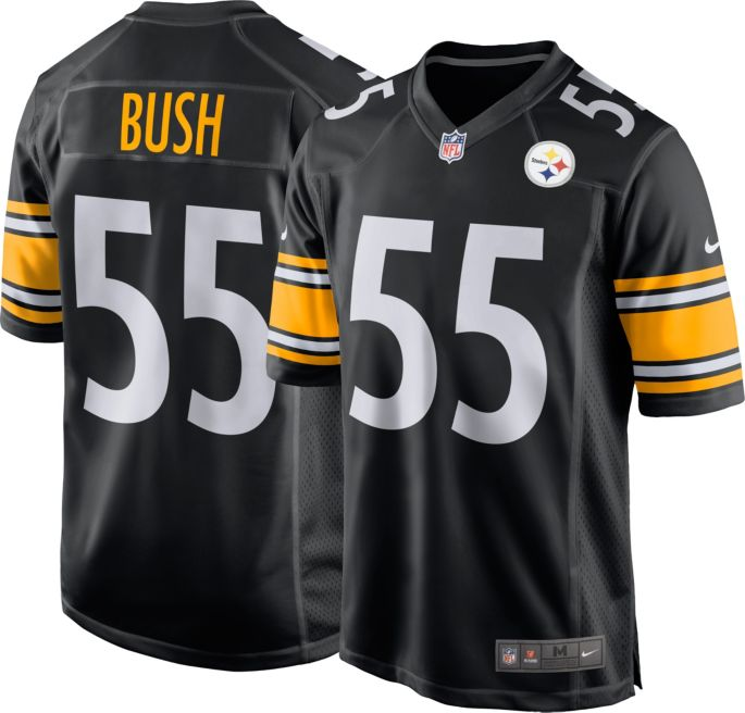 size 40 ee66f d6630 Devin Bush #55 Nike Men's Pittsburgh Steelers Home Game Jersey