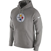 Nike Men's Pittsburgh Steelers Logo Club Grey Hoodie