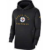 Nike Men's Pittsburgh Steelers Sideline Therma-FIT Local Black Performance Hoodie