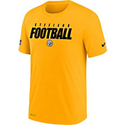 Nike Men's Pittsburgh Steelers Sideline Dri-FIT Cotton Football All Gold T-Shirt