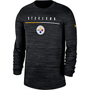 Nike Men's Pittsburgh Steelers Sideline Legend Velocity Black Long Sleeve Shirt