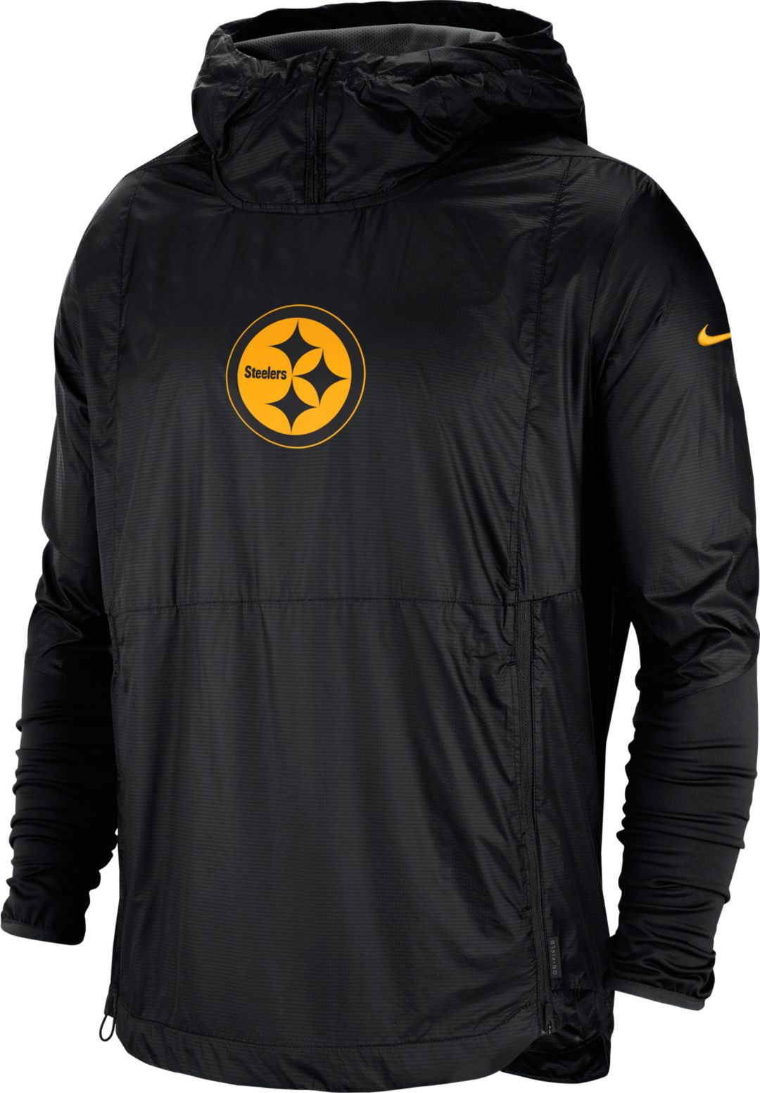 new concept a57c3 7012b Nike Men's Pittsburgh Steelers Sideline Repel Player Black Jacket