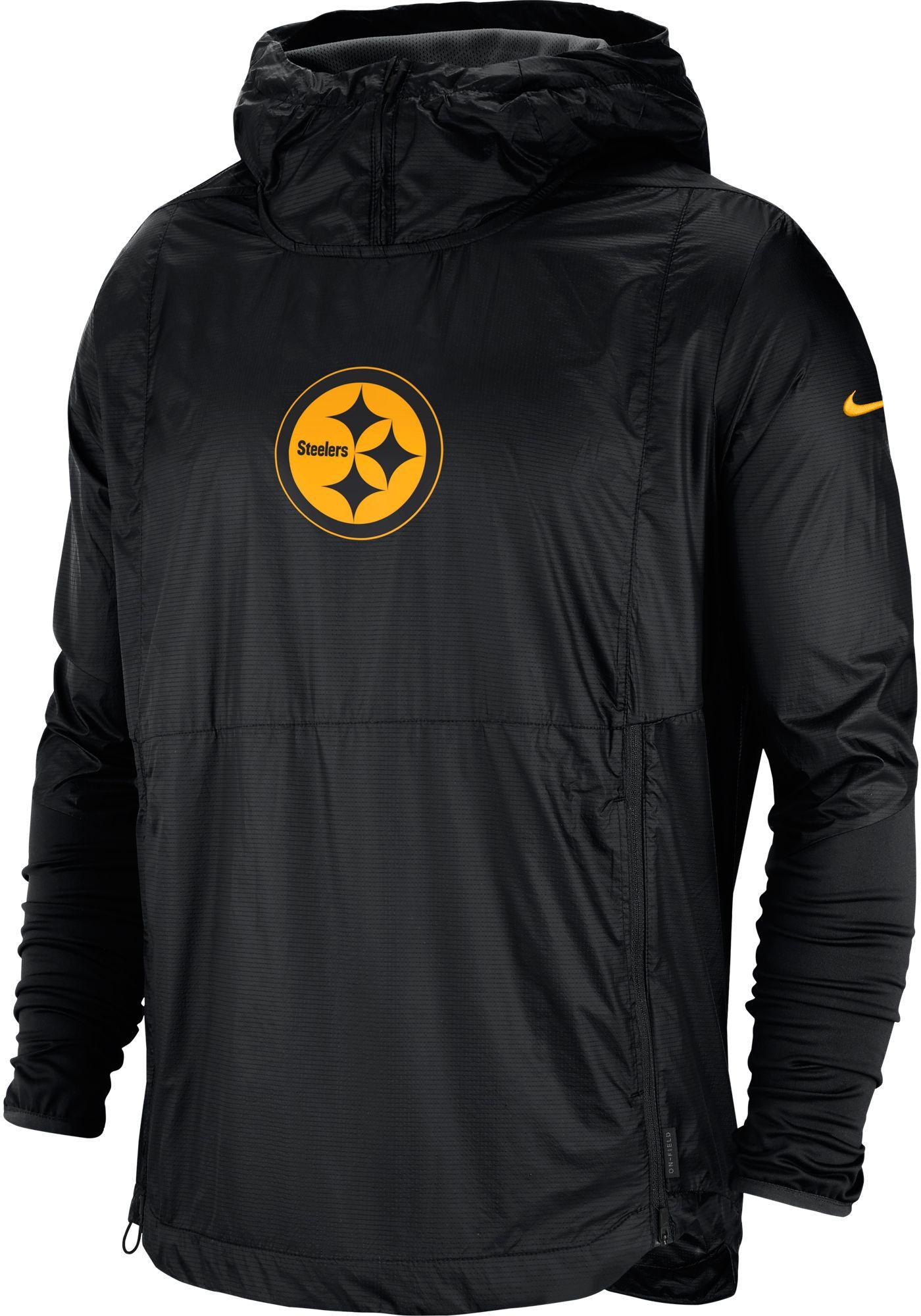 Nike Men's Pittsburgh Steelers Sideline Repel Player Black Jacket
