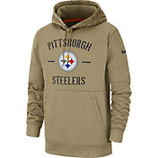 Nike Men's Salute to Service Pittsburgh Steelers Therma-FIT Beige Camo Hoodie