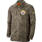 Nike Men's Salute to Service Pittsburgh Steelers Olive Lightweight Camo Jacket