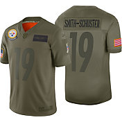 Nike Men's Salute to Service Pittsburgh Steelers JuJu Smith-Schuster #19 Olive Limited Jersey