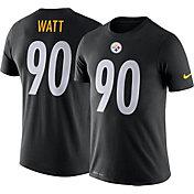 Nike Men's Pittsburgh Steelers T.J. Watt #90 Logo Black T-Shirt