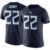 Nike Men's Tennessee Titans Derrick Henry #22 Logo Navy T-Shirt