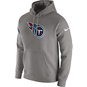 Nike Men's Tennessee Titans Logo Club Grey Hoodie