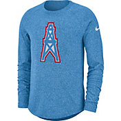 Nike Men's Tennesee Titans Marled Historic Performance Blue Long Sleeve Shirt