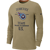 Nike Men's Salute to Service Tennessee Titans Dri-FIT Beige Long Sleeve Shirt