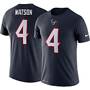 Nike Men's Houston Texans Deshaun Watson #4 Logo Navy T-Shirt