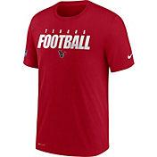 Nike Men's Houston Texans Sideline Dri-FIT Cotton Football All Red T-Shirt