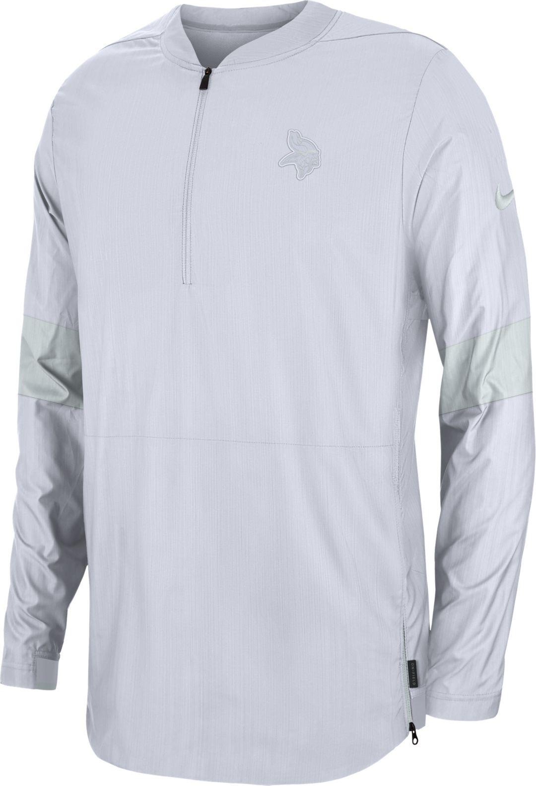 factory price 0a19e f5504 Nike Men's Minnesota Vikings Sideline Coach White Half-Zip Performance  Jacket