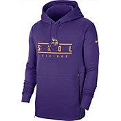 Nike Men's Minnesota Vikings Sideline Therma-FIT Local Purple Performance Hoodie