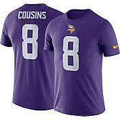 Nike Men's Minnesota Vikings Kirk Cousins #8 Logo Purple T-Shirt