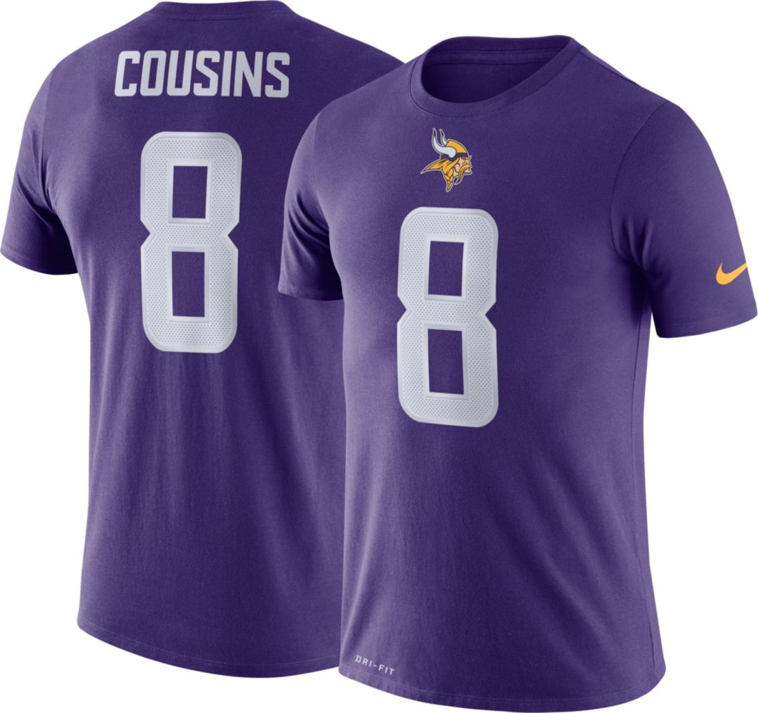 quality design 4d180 1589c Nike Men's Minnesota Vikings Kirk Cousins #8 Logo Purple T-Shirt