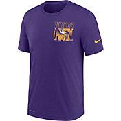 Nike Men's Minnesota Vikings Sideline Dri-FIT Cotton Facility Purple T-Shirt