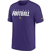 Nike Men's Minnesota Vikings Sideline Dri-FIT Cotton Football All Purple T-Shirt