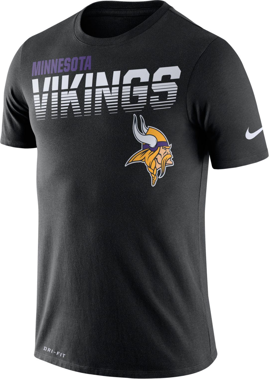 online store cb7ca d3dc7 Nike Men's Minnesota Vikings Sideline Legend Performance Black T-Shirt