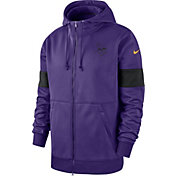 Nike Men's Minnesota Vikings Sideline Therma-FIT Purple Full-Zip Hoodie