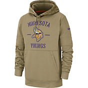 Nike Men's Salute to Service Minnesota Vikings Therma-FIT Beige Camo Hoodie